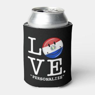 パラグアイの微笑の旗からの愛 缶クーラー
