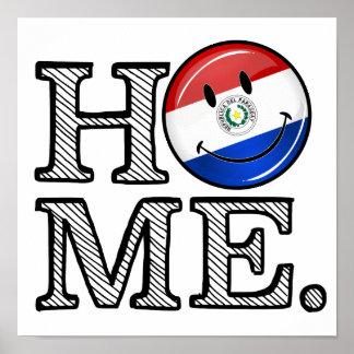 パラグアイの微笑の旗の家のウォーマー ポスター