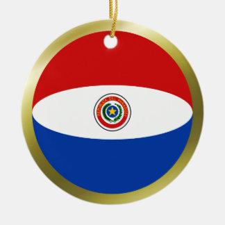 パラグアイの旗のオーナメント セラミックオーナメント