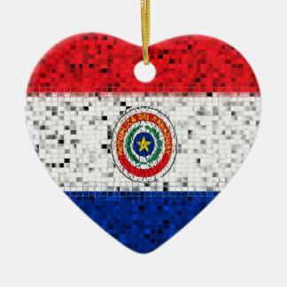 パラグアイの旗のグリッターのオーナメント セラミックオーナメント