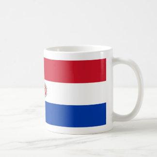 パラグアイの旗のコーヒー・マグ コーヒーマグカップ