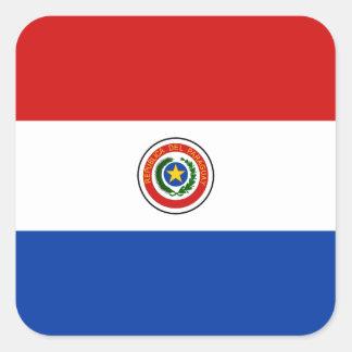 パラグアイの旗のステッカー スクエアシール