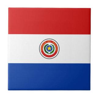 パラグアイの旗のセラミックタイル タイル