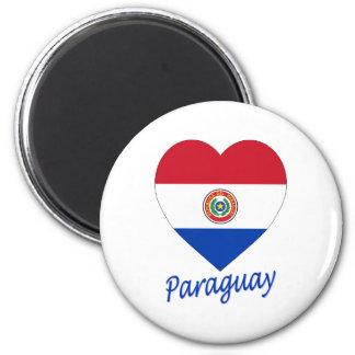 パラグアイの旗のハート マグネット