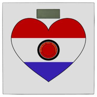 パラグアイの旗のハート 体重計