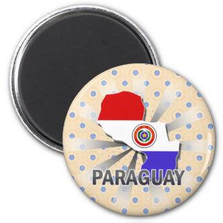 パラグアイの旗の地図2.0 マグネット