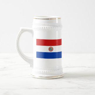 パラグアイの旗の~の地図のマグ ビールジョッキ