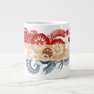 パラグアイの旗 ジャンボコーヒーマグカップ
