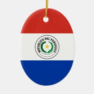 パラグアイの旗 セラミックオーナメント