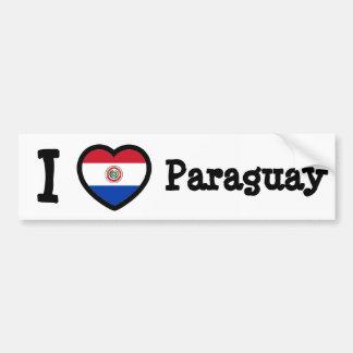 パラグアイの旗 バンパーステッカー
