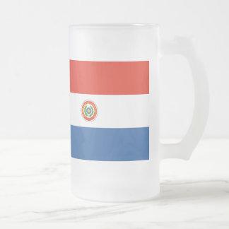 パラグアイの旗 フロストグラスビールジョッキ