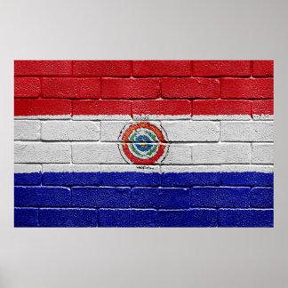 パラグアイの旗 ポスター