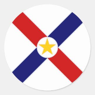 パラグアイの旗 ラウンドシール