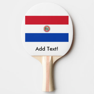 パラグアイの旗 卓球ラケット