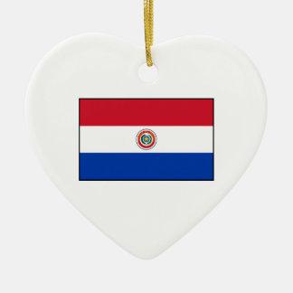パラグアイの旗(表側) セラミックオーナメント