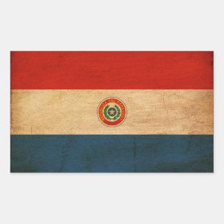 パラグアイの旗 長方形シール