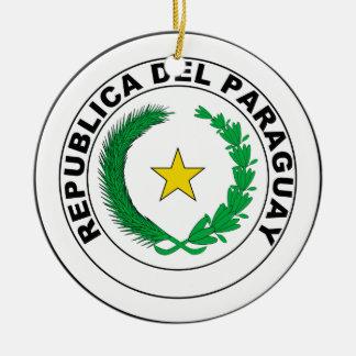 パラグアイの紋章付き外衣 セラミックオーナメント
