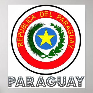 パラグアイの紋章付き外衣 ポスター