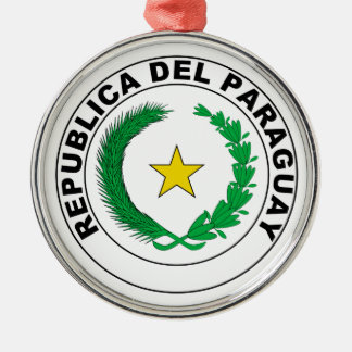 パラグアイの紋章付き外衣 メタルオーナメント