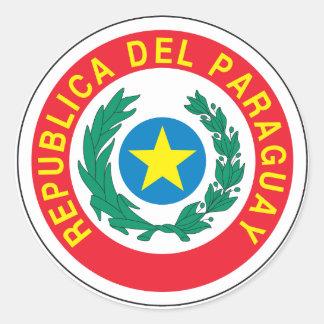 パラグアイの紋章付き外衣 ラウンドシール