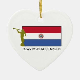 パラグアイアスンシオンの代表団LDS CTR セラミックオーナメント