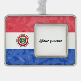 パラグアイ シルバープレートフレームオーナメント