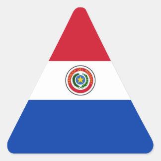 パラグアイ 三角形シール