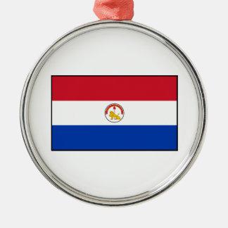 パラグアイ(裏側)の旗 メタルオーナメント