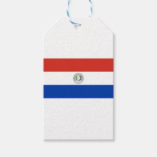 パラグアイ- Bandera deパラグアイの旗 ギフトタグ