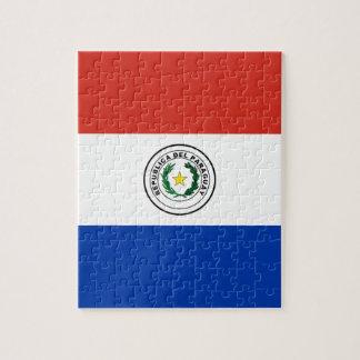 パラグアイ- Bandera deパラグアイの旗 ジグソーパズル