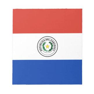 パラグアイ- Bandera deパラグアイの旗 ノートパッド