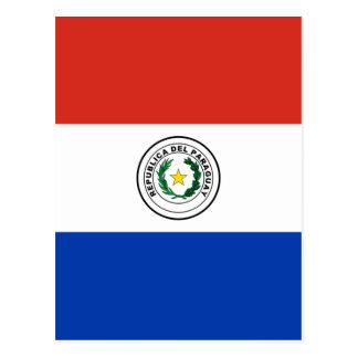 パラグアイ- Bandera deパラグアイの旗 ポストカード