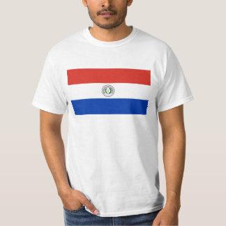 パラグアイ- Bandera deパラグアイの旗 Tシャツ