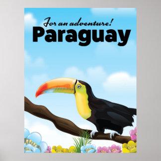 パラグアイToucan旅行ポスター ポスター