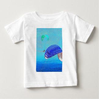 パラグライダーの上昇 ベビーTシャツ