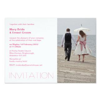 パラソルの結婚式招待状 カード