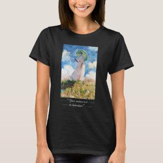 パラソルクロード・モネを持つ女性 Tシャツ