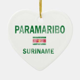 パラマリボスリナムのデザイン セラミックオーナメント