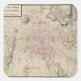 パリおよび包囲の地図 スクエアシール
