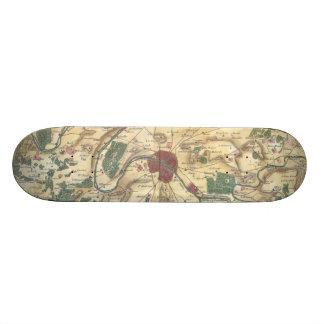 パリおよび周囲(1780年)のヴィンテージの地図 スケートボード