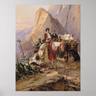 パリからのカディス1846年への旅行 ポスター