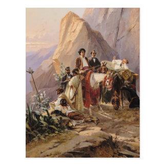 パリからのカディス1846年への旅行 ポストカード