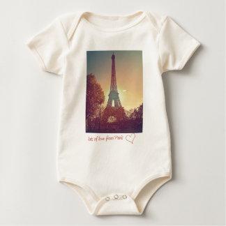 パリからの愛の多く ベビーボディスーツ