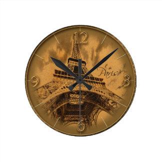 パリについての記憶 ラウンド壁時計