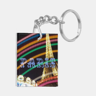 パリのおもしろいのネオンライト キーホルダー