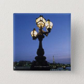 パリのアレグサンダーIII橋 5.1CM 正方形バッジ