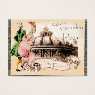 パリのオペラハウスが付いているロマンチックなカップル チャビ―名刺