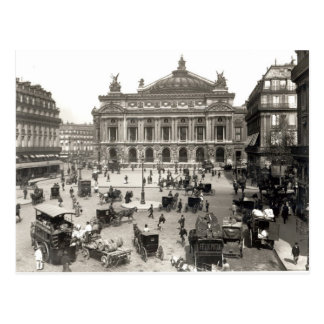 パリのオペラハウスの眺め、1890-99年 ポストカード