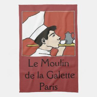 パリのカフェは、文字を加えます キッチンタオル