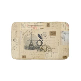 パリのカラスの地球のフランスのな郵便はがきのバス・マット バスマット